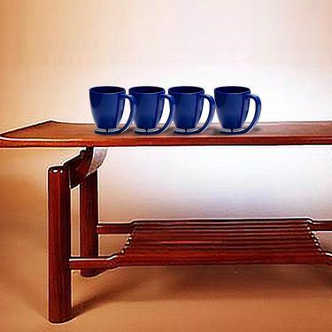Kitchen Duniya Set of 4 Floating Mugs-Electric Blue