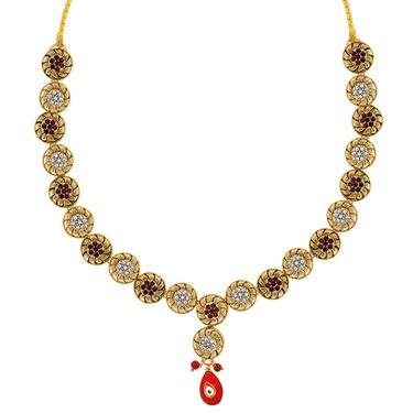 Spargz Alloy Metal Necklace Set_Ains048