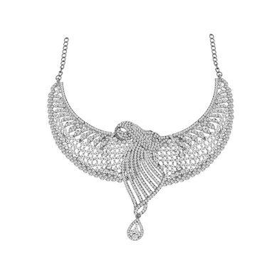 Spargz Brass Metal Necklace Set_Ains084