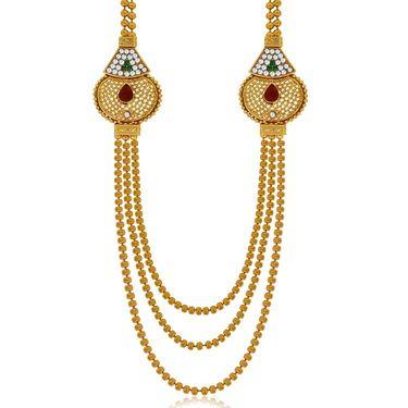 Spargz Brass Metal Necklace Set_Ains094