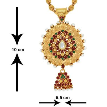 Spargz Brass Metal Pendant Set_Aips150