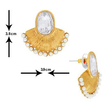 Spargz Brass Metal Earring_Aier385