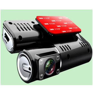 ZINGALALAA I1000 Allwinner Solution 2.0 Inch TFT LCD 120 Degree Wide Angle Dual Lens Megapixel Car DVR with Samsung 4AW Sensor - Black