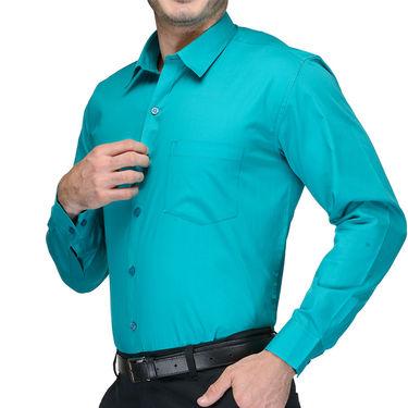 Being Fab Cotton Formal Shirt_Bfs07 - Sea Green