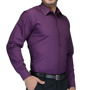 Being Fab Cotton Formal Shirt_Bfs09 - Purple