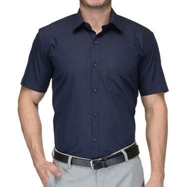 Being Fab Cotton Formal Shirt_Bfs23 - Navy Blue