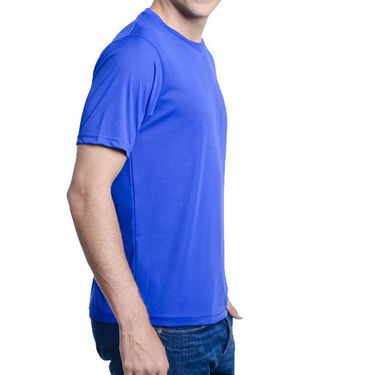 Pack of 2 Oh Fish Plain Round Neck Tshirts_Df2blured - Blue & Red