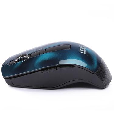 DGB Curve 3D Wireless Optical Mouse (Blue)