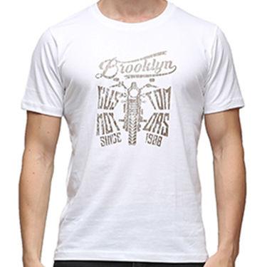 Effit Half Sleeves Round Neck Tshirt_Etscrn004 - White