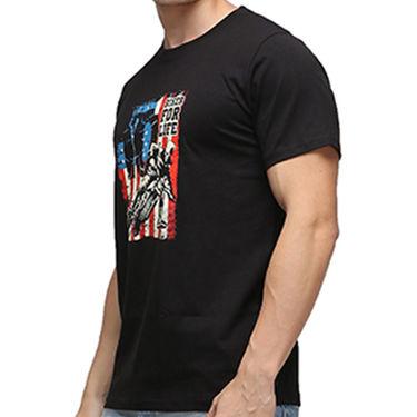 Effit Half Sleeves Round Neck Tshirt_Etscrn007 - Black
