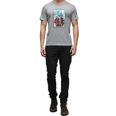 Effit Half Sleeves Round Neck Tshirt_Etscrn026 - Grey