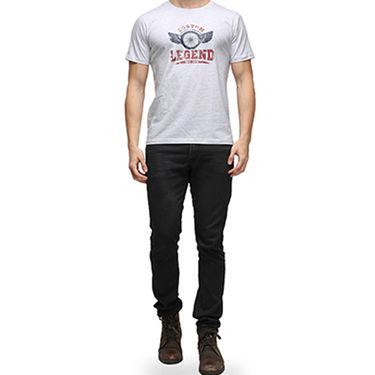 Effit Half Sleeves Round Neck Tshirt_Etscrnl013 - Light Grey