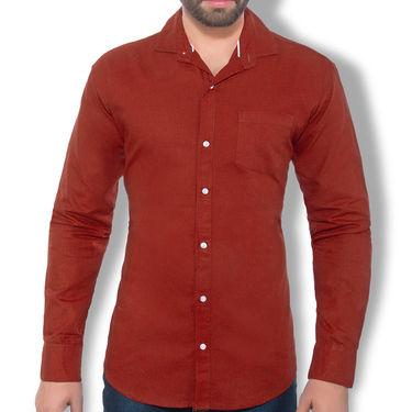 Plain Cotton Shirt_Gkcsm - Maroon