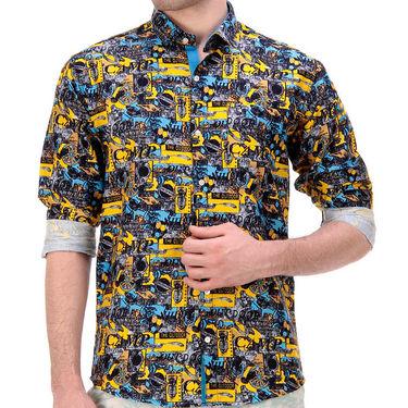 Printed Cotton Shirt_Gkdigiy - Yellow