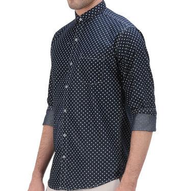 Printed Denim Shirt_Gkds12 - Black