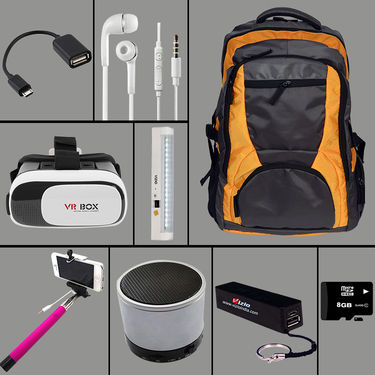 Combo of Travel Bag + 8 Utility Accessories