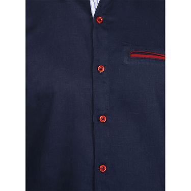 Pack of 2 Stylox Cotton Shirts_2734 - Navy & Black