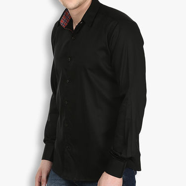 Pack of 2 Stylox Cotton Shirts_3438 - Black