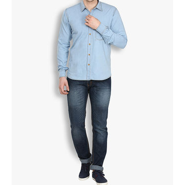 Stylox Cotton Shirt_Lbdnm219s - Light Blue