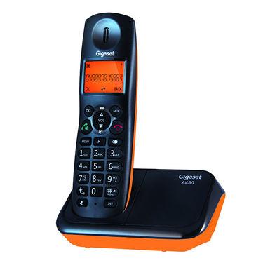 Gigaset A450 Black Orange Cordless Landline Phone