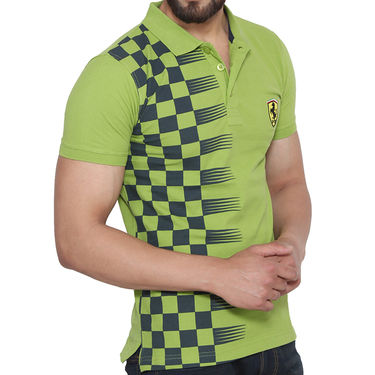 Branded Cotton Slim Fit Tshirt_Fg02 - Green