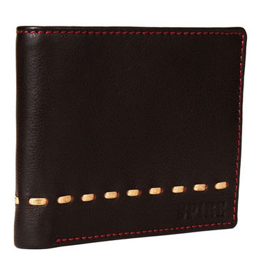 Spire Stylish Leather Wallet For Men_Smw138 - Black