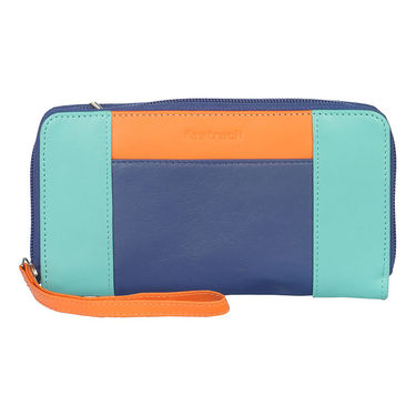 Fastrack Leather Clutch For Women_C0375lbl01 - Blue