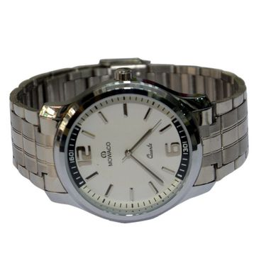 Branded Round Dial Analog Wrist Watch For Men_2305sm01 - White