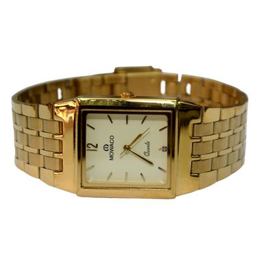 Branded Square Dial Analog Wrist Watch For Men_2305sm06 - Golden
