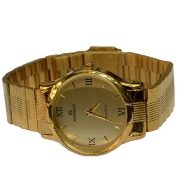 Branded Round Dial Analog Wrist Watch For Men_2305sm07 - Golden