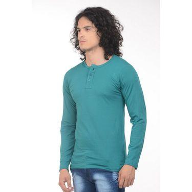 Plain Comfort Fit Blended Cotton TShirt_Htvrg - Green
