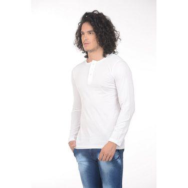 Pack of 2 Plain Regular Fit Tshirts_Htvrow - Orange & White