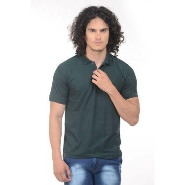 Pack of 2 Plain Regular Fit Tshirts_Ptgdbkg - Black & Green