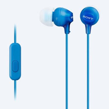 Sony MDR-EX15LP In-Ear Headphones (Blue)