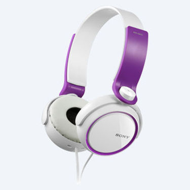 Sony MDR-XB250 Over Ear Headphones (Violet)
