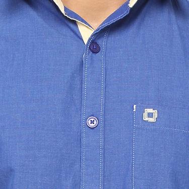 Crosscreek 100% Cotton Shirt For Men_1080305f - Blue