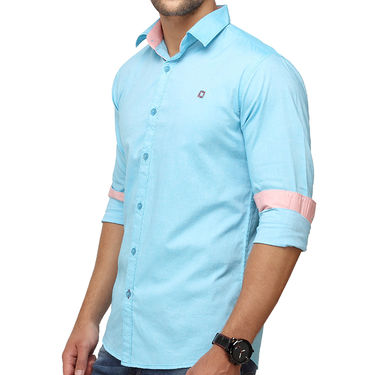 Crosscreek 100% Cotton Shirt For Men_1080310f - Aqua