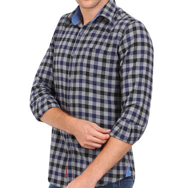 Crosscreek 100% Cotton Shirt For Men_1030311 - Navy