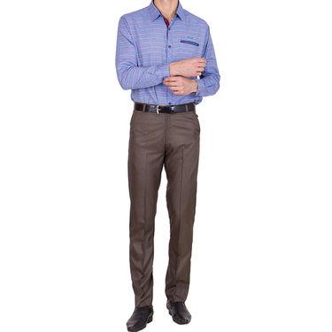 Tiger Grid Pack of 2 Cotton Formal Trouser For Men_Md022