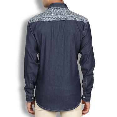 Branded Denim Cotton Shirt_Gkds09 - Blue