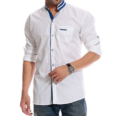 Brohood Cotton Shirt_Mfsd3001 - White