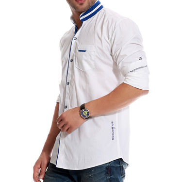 Brohood Cotton Shirt_Mfsd3001 - White