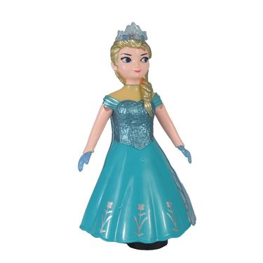 Dancing Princess Doll With 3D Light & Music 360° Rotation  Girl Robot Toy For Kids (Blue)