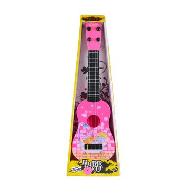 Kids Cartoon Printed 40cm Party Play Learning Guitar - Pink