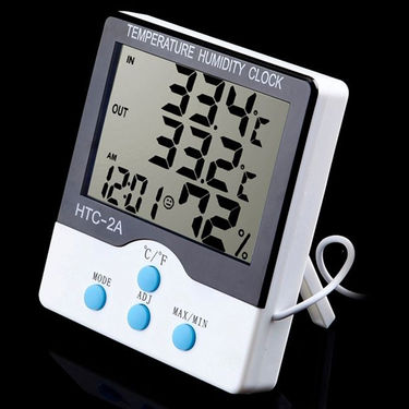 ZINGALALAA LCD Indoor Outdoor Thermometer Hygrometer Humidity Meter HTC-2A