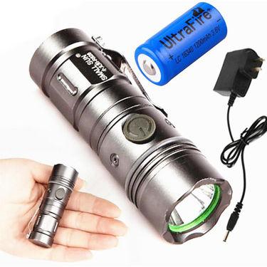 ZINGALALAA SMALL SUN ZY-R828 1200LM 300 M CREE XML T6 LED Pocketable 3 Mode Mini Flashlight