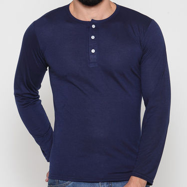 Rico Sordi Full Sleeves Cotton Tshirt_Rsh04 - Navy