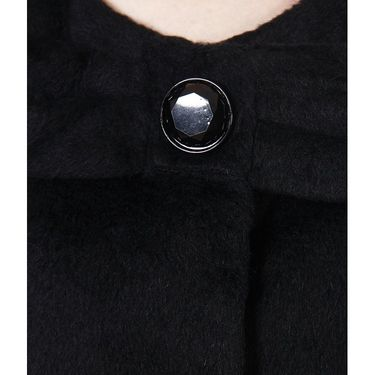 Yellow Tree Plain Woolen Black Full Sleeves Long Coat_Yt01