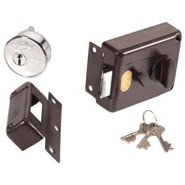 Godrej 7 Lever Night Latch Inside Opening Lock (Brown)