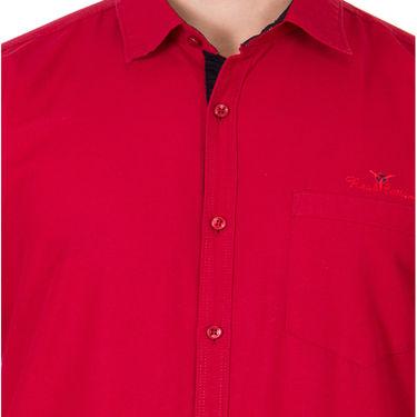Branded Full Sleeves Cotton Shirt_R12kred - Red